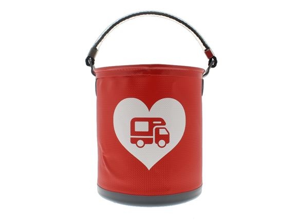Colapz Bucket - Motorhome Love Heart - Red product image
