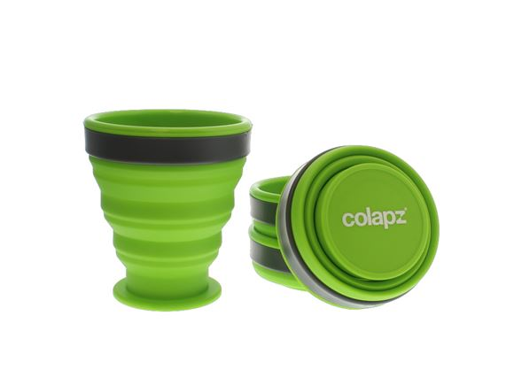 Colapz Silicone Collapsible Cup Set - Green (x4) product image