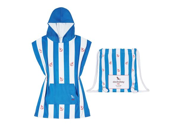 Dock & Bay Poncho Blue Anchor - Small product image