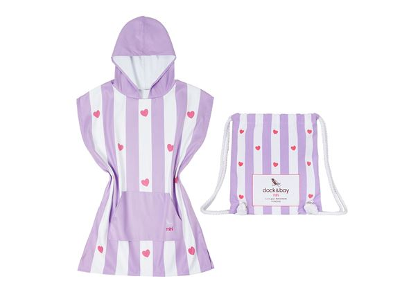 Read more about Dock & Bay Poncho Purple Heart - Small product image