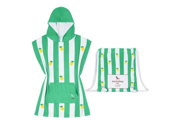 Dock & Bay Poncho Pineapple Green - Small product image