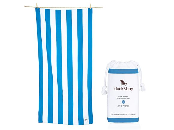 Dock & Bay Cabana Towel Blue - Large product image