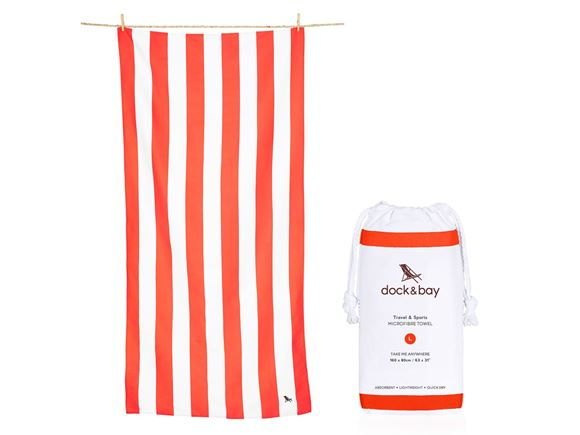 Dock & Bay Cabana Towel Red - Large product image