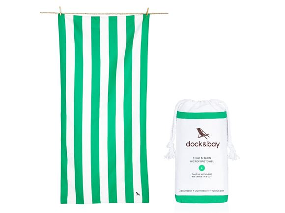 Dock & Bay Cabana Towel Green - Large product image