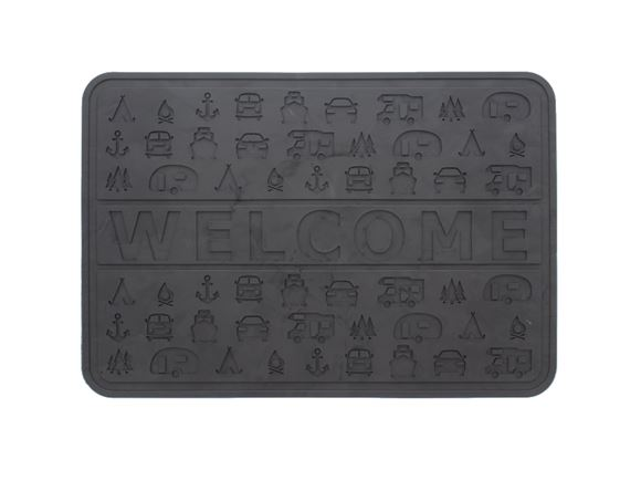 Camping Rubber Welcome Mat product image