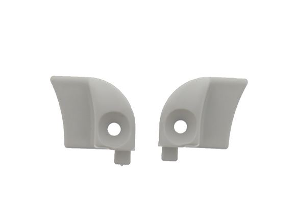 Seitz Grey Window Hinge Rail End Caps ( Pair ) product image