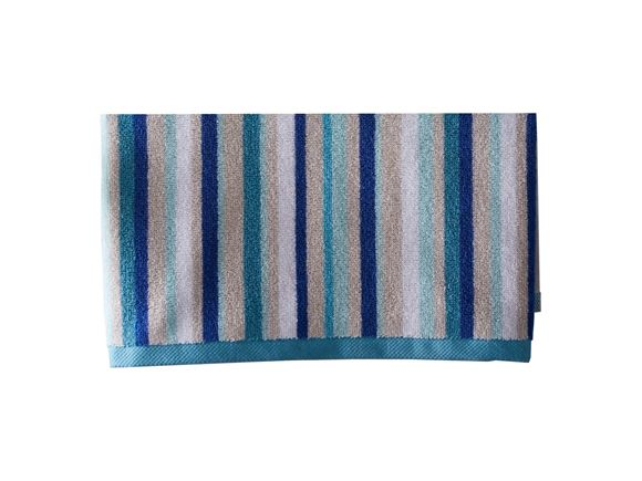 Christy Monaco Stripe Bath Towel Aqua product image
