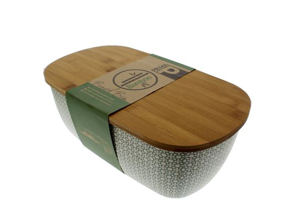 Bamboo Bread Bin - Green Clover product image