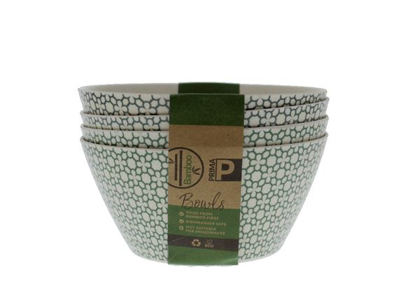 Bamboo Bowl Set - Green Clover product image