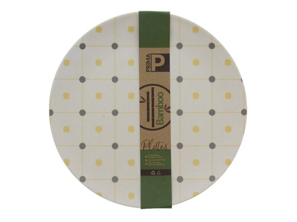 Bamboo Large Plate Set - Ochre Polka product image