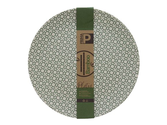 Bamboo Large Plate Set - Green Clover product image