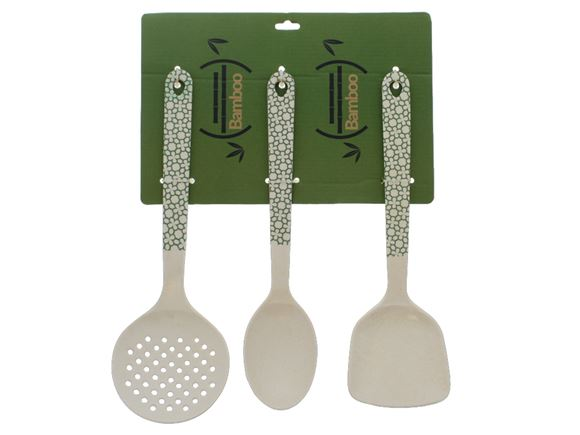 Bamboo Cooking Utensil Set - Green Clover product image