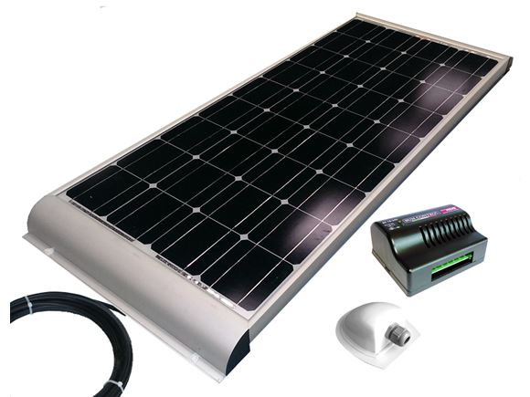 "NDS 120w ""Aero"" Solar Panel Kit - Dual Regulator product image"