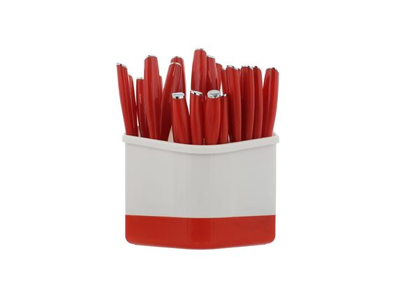 PRIMA 24 Piece Cutlery Set with Holder - Red product image