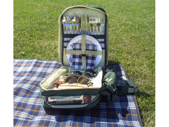 4 Person Picnic Hamper Backpack and Cooler Bag  product image