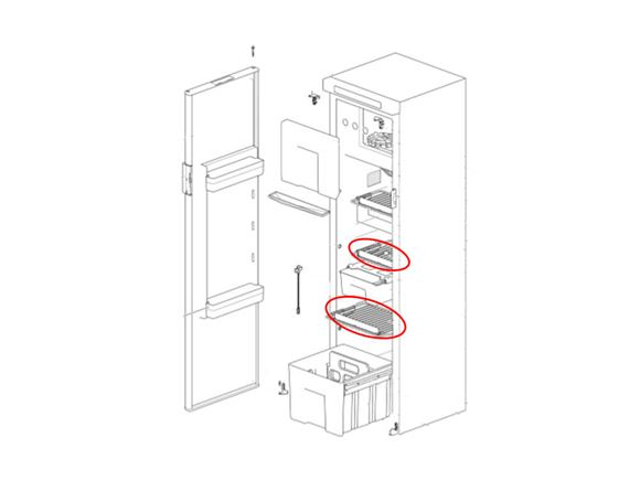 Thetford N4142E Fridge Middle / Bottom Shelf product image