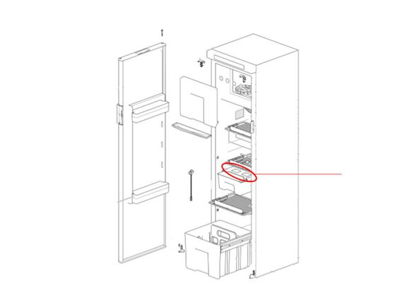 Thetford N4142E Fridge Slide Out Box Guider product image