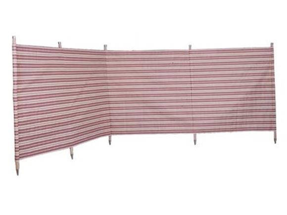 Windbreak 5 Pole Burgundy Stripe 3.6m product image