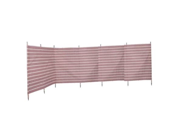 Windbreak 7 pole Burgundy Stripe 5.4m product image