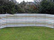 Windbreak 7 Pole Sand/Grey Contemporary Stripe