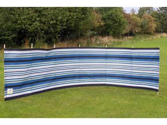 Windbreak 7 Pole Navy/Burgundy Contemporary Stripe product image