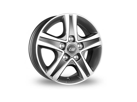 "15"" Borbet Grey Polished Alloy Wheel Rim (Single) product image"